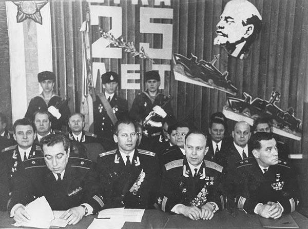 Шабалин на торжественном собрании. 1973 г.