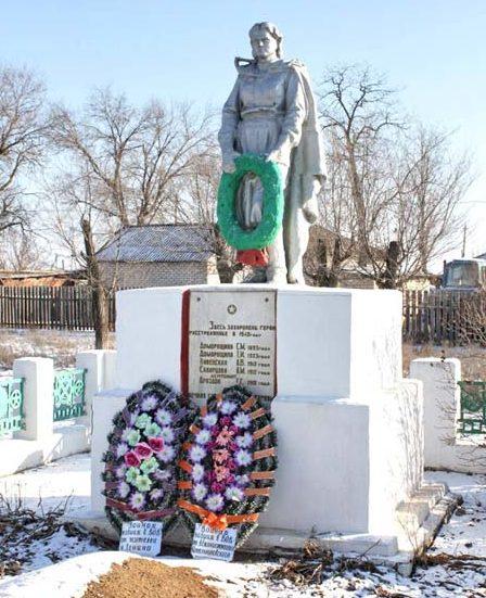 п. Ленина Котельниковского р-на. Братская могила, в которой захоронено 47 советских воинов, в т.ч. 35 неизвестных.