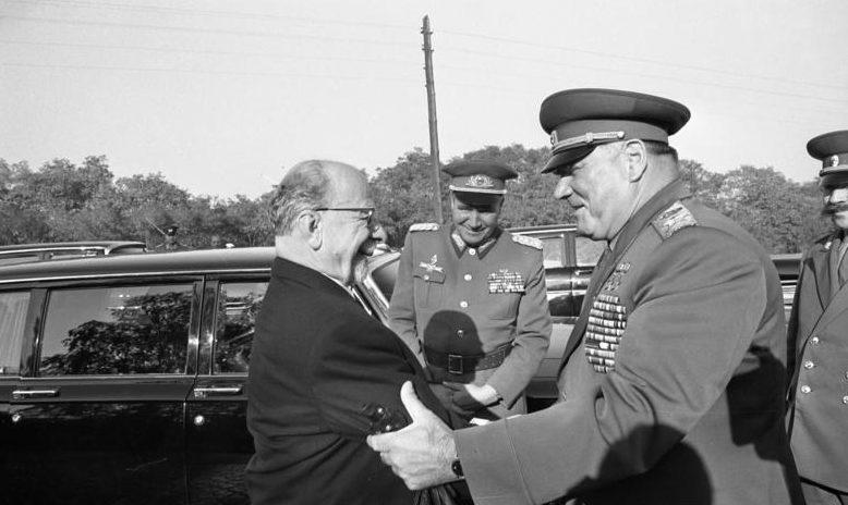Маршал Якубовский в Германии. 1970 г.