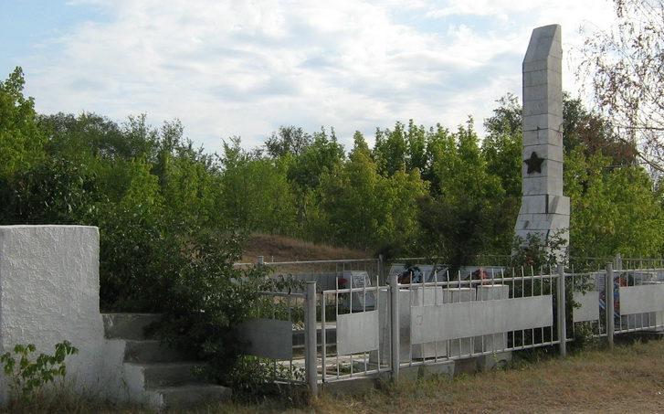 ст-ца. Новогригорьевская Иловлинского р-на. Братская могила советских воинов, погибших во время Сталинградской битвы.