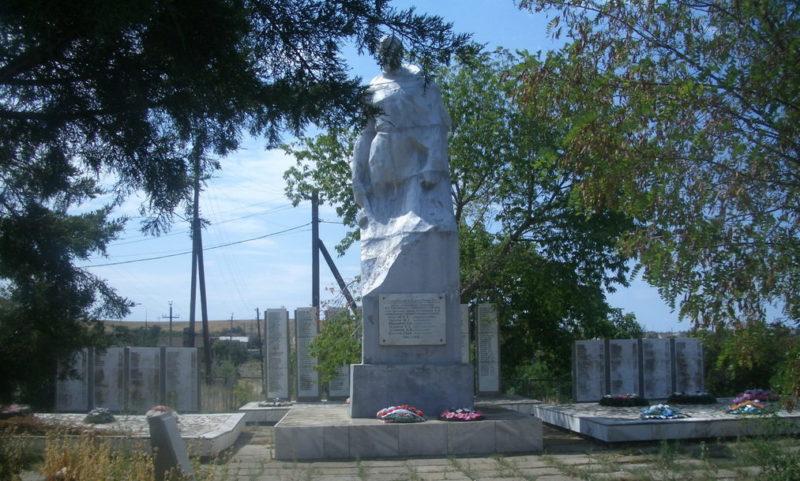 ст-ца. Сиротинская Иловлинского р-на. Памятник, установленный на братской могиле советских воинов, погибших в годы войны.