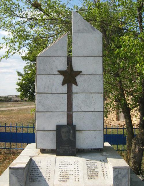ст-ца. Старогригорьевская Иловлинского р-на. Братская могила советских воинов, погибших в период Сталинградской битвы.