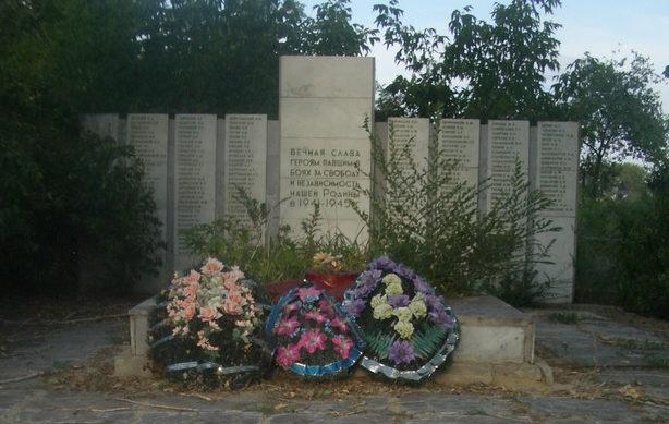 х. Фастов Иловлинского р-на. Братская могила советских воинов, погибших в годы войны.