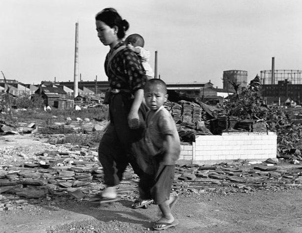 Улицы Токио. Сентябрь 1945 г.