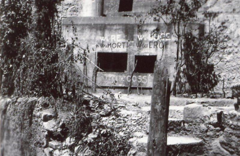Каземат после боя в 1940 году и сегодня.