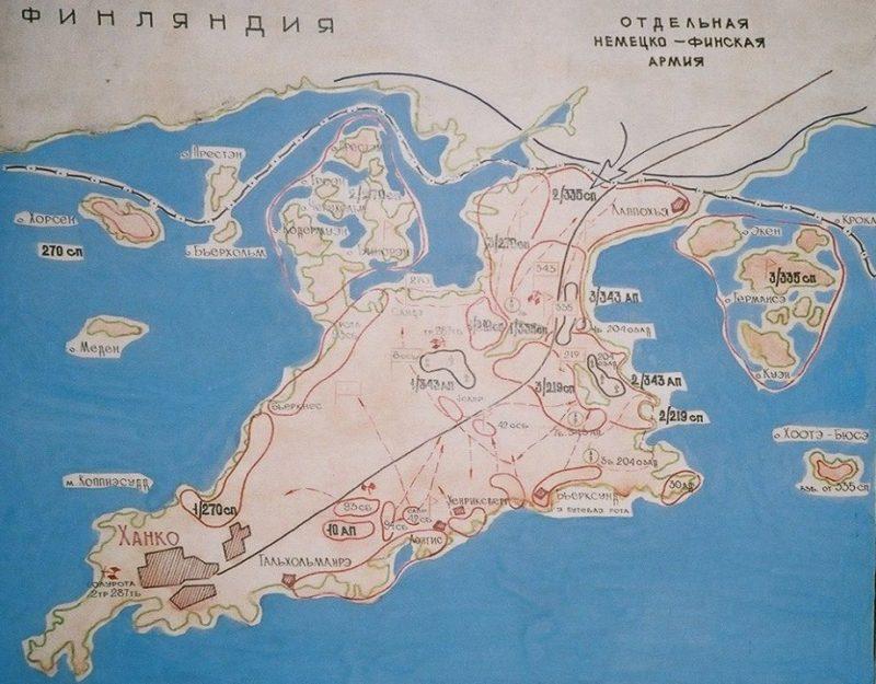 Район обороны военно-морской базы Ханко.