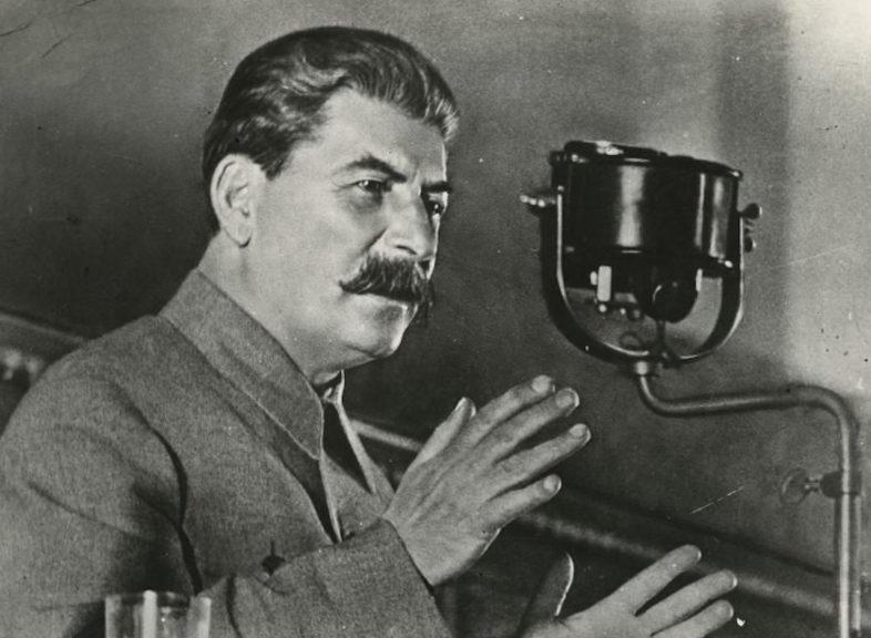 Выступление Сталина по радио.