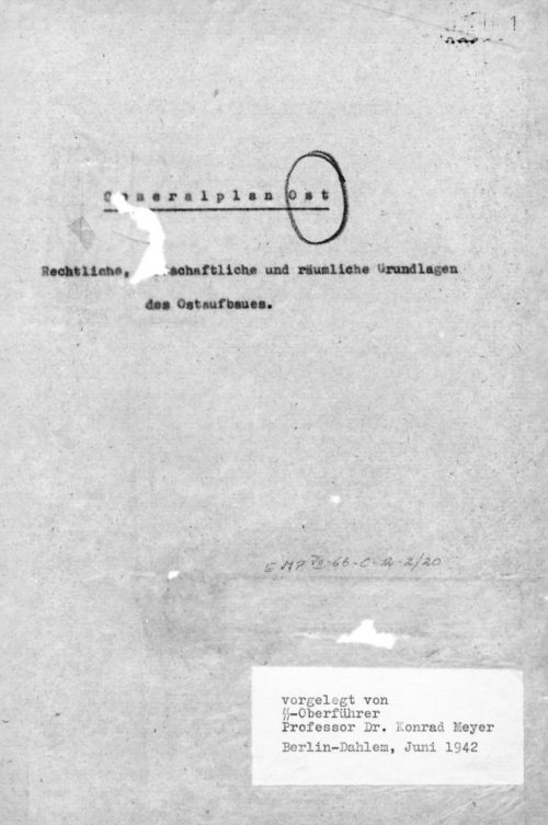 Титульная страница Генерального плана Ост.