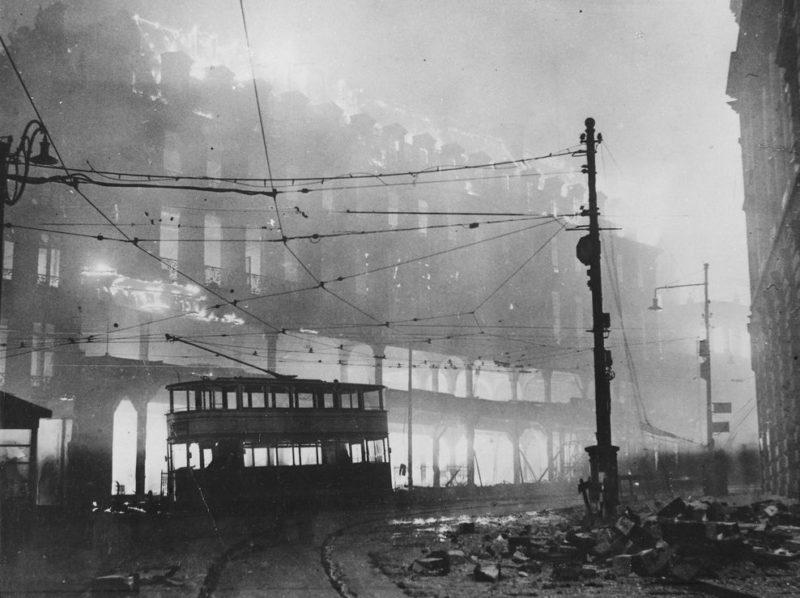 Пожар в центре города.