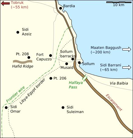 Карта-схема района боевых действий.