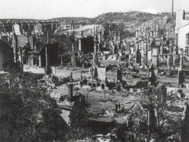 Разрушения в Турку.