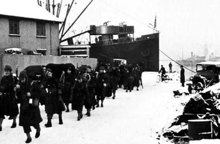 Американские войска в Рейкьявике. Январь 1942 года.