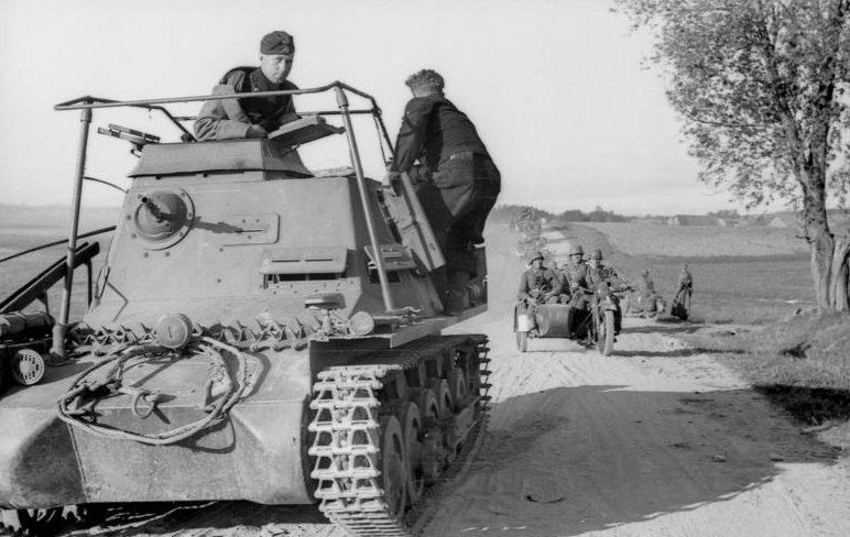 Наступление немецких войск в Украине.