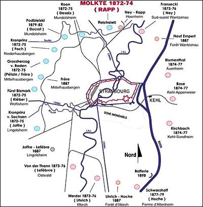 Размещение малых фортов – артиллерийских позиций.