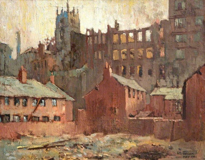 Руины города глазами художника. William Benner.