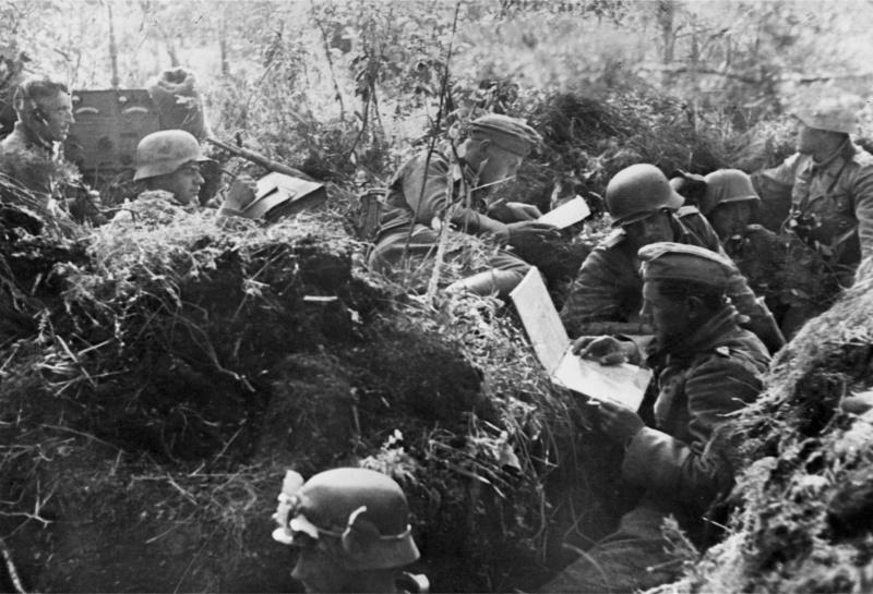 Немецкий узел связи под Новгородом. Август 1941 г.