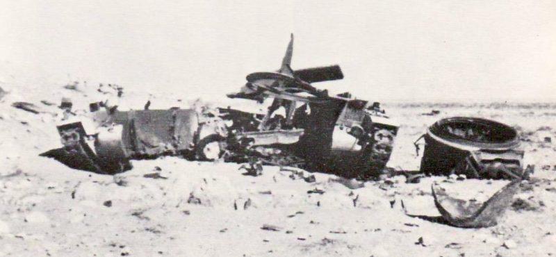 Остатки британского танка «Матильда».
