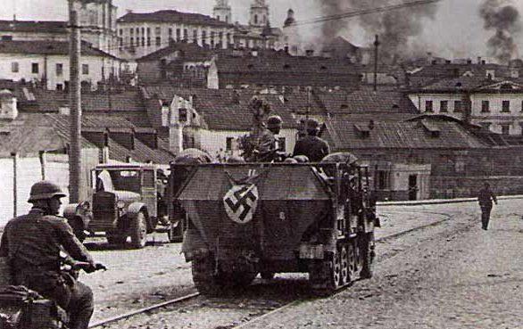 Немецкие войска вошли в город.