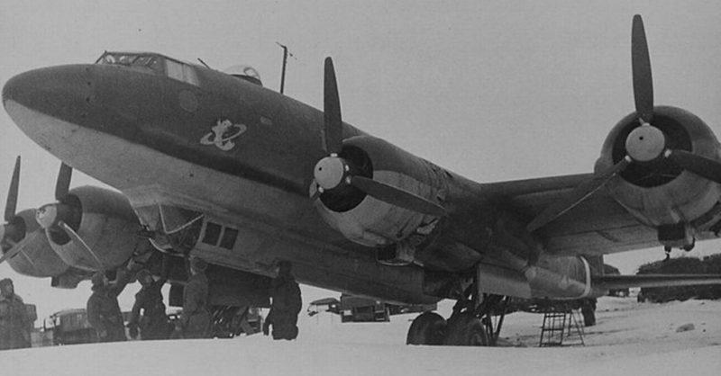 Фокке Фульф-200 - немецкий 4-х моторный самолет, захваченный Красной Армией в Сталинградском котле.