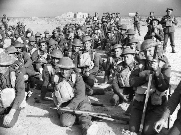 Солдаты 1-й противотанковой роты в Тобруке. Февраль 1941 г.