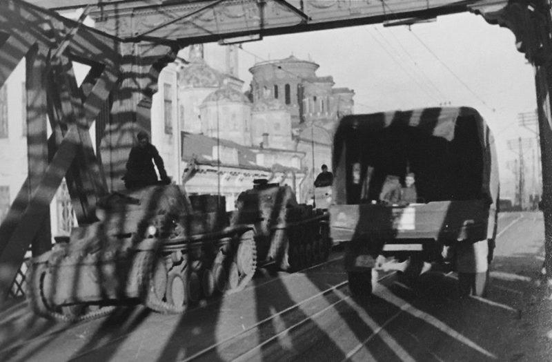 Вид на Красный мост в оккупированном Орле. Октябрь 1941 г.
