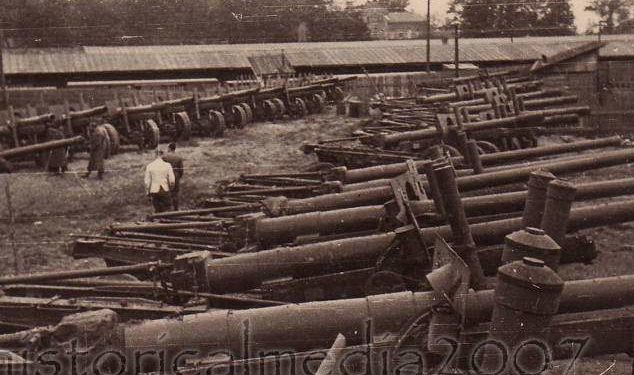 Площадка трофейного артиллерийского оружия. Август 1941 г.