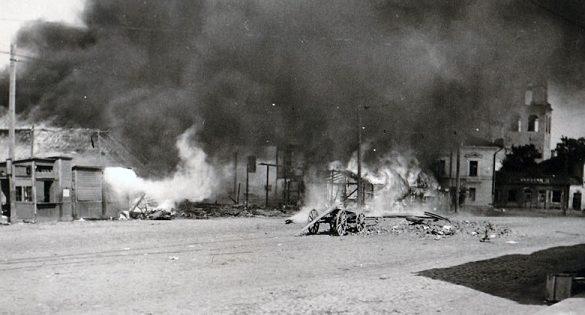 Пожары в городе. 8 июля 1941 г.