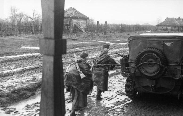 Немецкие войска в окрестностях Ржева. Март 1942 г.