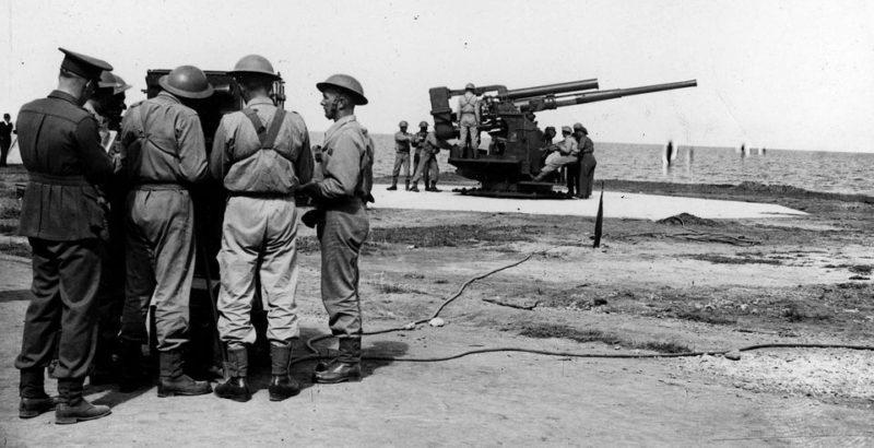 Обучение зенитчиков Сиднея. 1941 г.