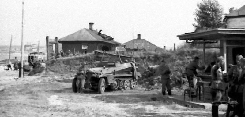 Немцы в Чижовке. Июль 1942 г.