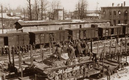 Железнодорожный вокзал. Октябрь 1941 г.