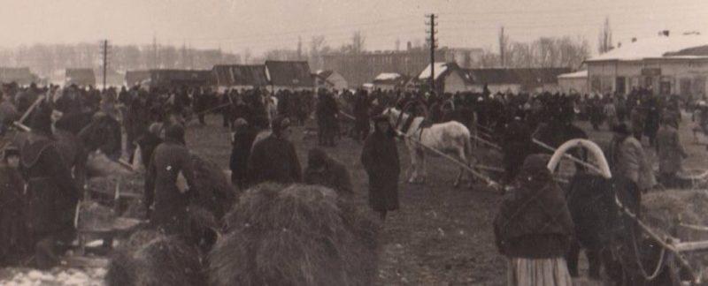 Рынок в Рославле. Октябрь 1941 г.