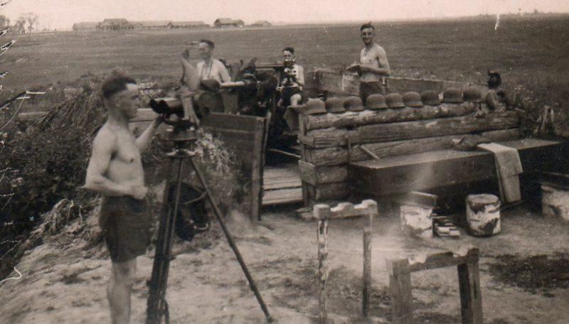 Орудийная позиция немецкого орудия. Лето 1942 г.