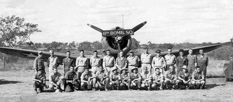 8-я бомбардировочная эскадрилья на аэродроме Бреддан. Март 1942 г.