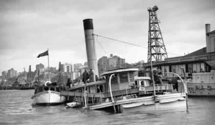 Шлюп «Kuttabul» ВМФ Австралии, после атаки японских подводных лодок на гавань Сиднея. 31 мая 1942 г.