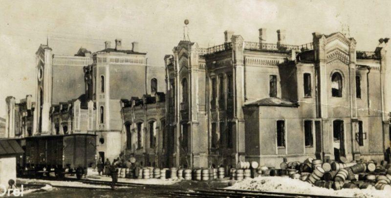 Улицы города в оккупации. Февраль 1942 г.
