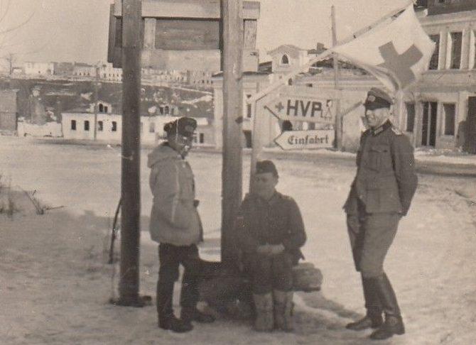 У немецкого госпиталя Ржева. 1942 г.
