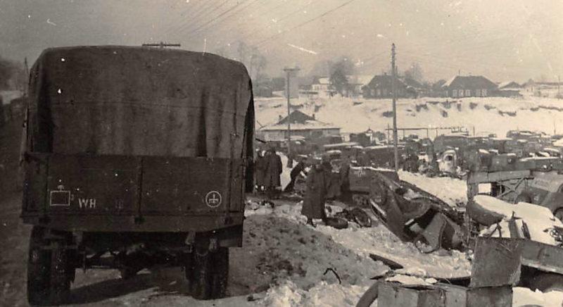 Зима в Рославле. 1942 г.