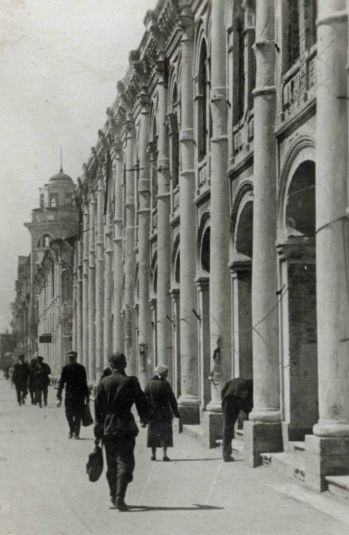 Центр оккупированного города. Апрель 1942 г.