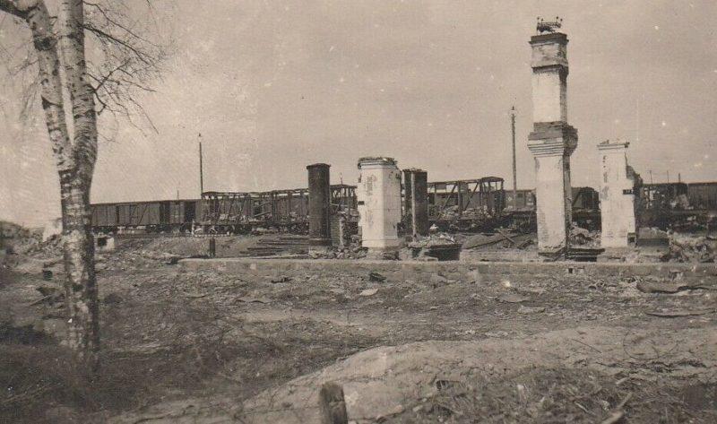 Железнодорожная станция Ржев-Балтийский. 1942 г.