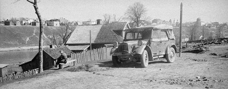 Вид с Красноармейской набережной. 1942 г.