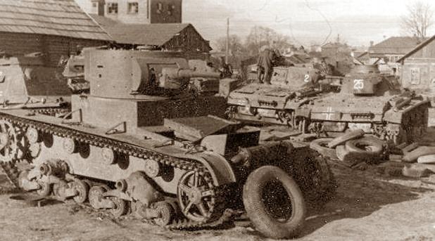 Ремонт немецкой техники. Осень 1942 г.