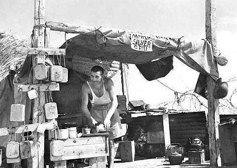 Кухня в лагере в Эль-Аламейне. Октябрь 1942 г.