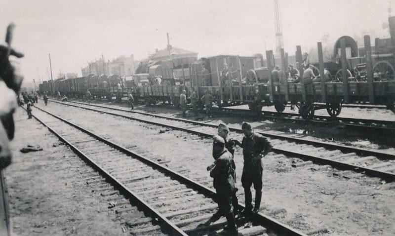 Немецкие составы на станции Орёл. Апрель 1943 г.