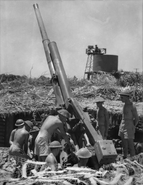 Зенитное орудие в Дарвине. Ноябрь 1942 г.