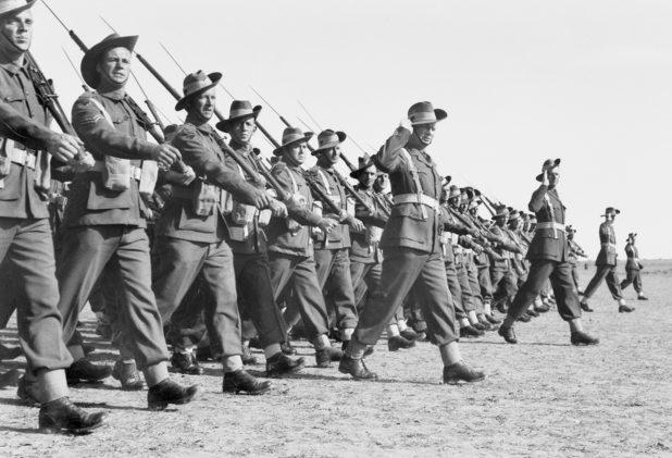 Австралийские войска в Газе. Палестина. 22 декабря 1942 г.