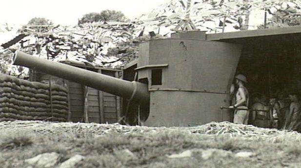 Орудие береговой обороны. Албании.13 марта 1943 г.