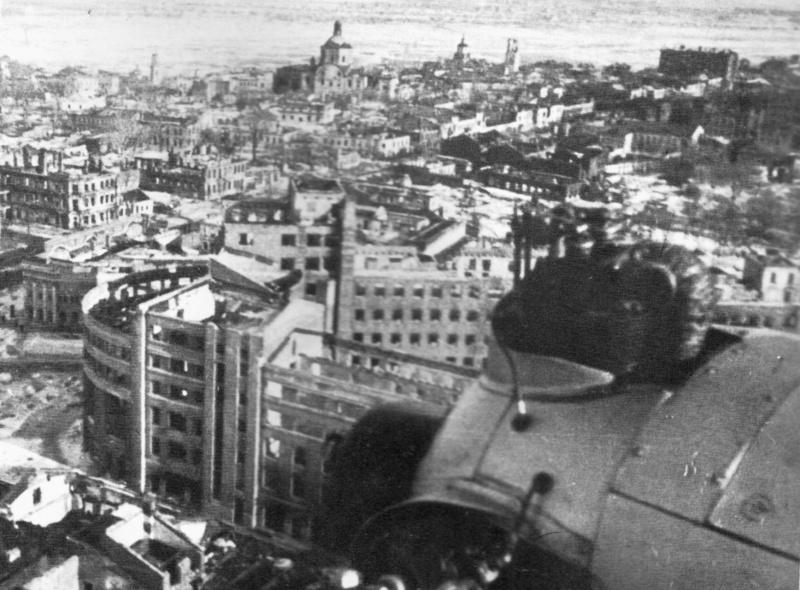 Вид на Воронеж после освобождения. Январь 1943 г.