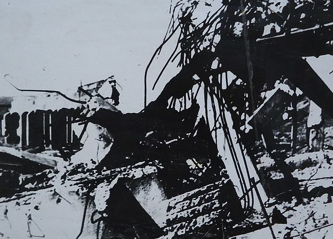 Развалины депо. 1943 г.