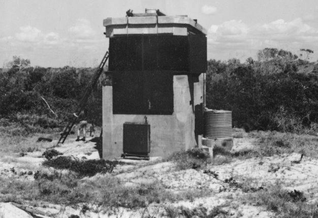 Наблюдательный пункт, входивший в систему обороны Форт-Бриби. 1943 г.